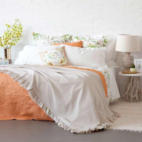 Cotton Frill Bedspread And Pillow Cover Zara Home United States