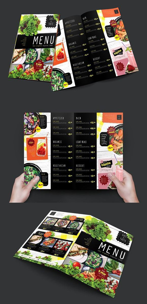 Folding A Salad Menu Template Salad Menu Menu Templates And - Foldable menu template