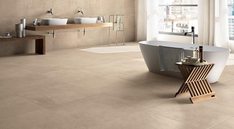 Grote Tegels Badkamer : Prachtige grote tegels voor de badkamer in naturel tinten