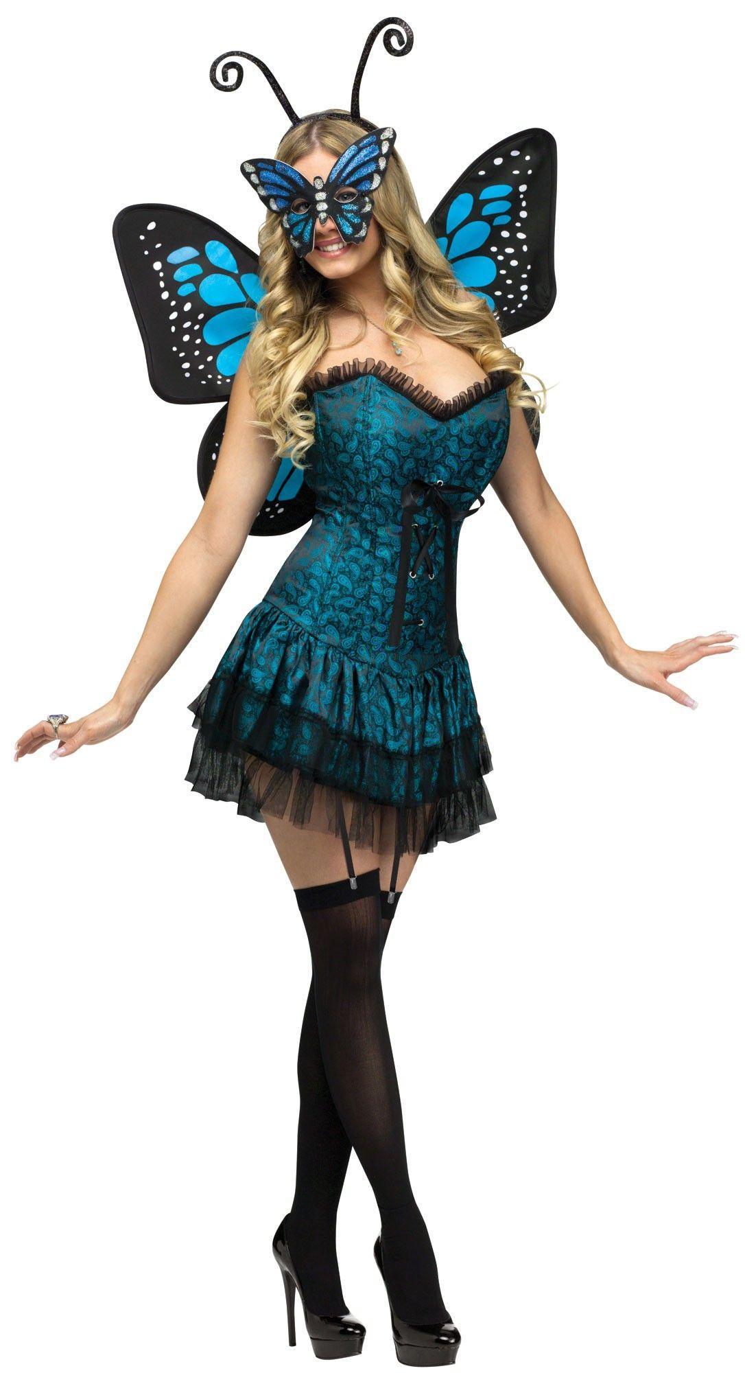 756831e98 Sexy disfraz de mariposa azul