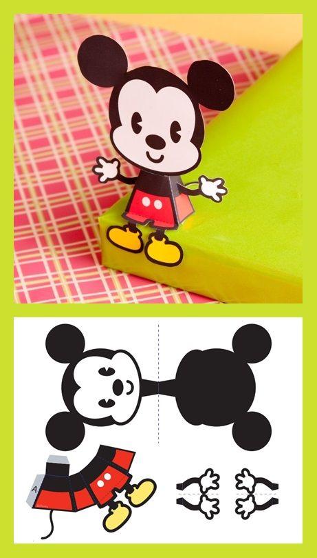 mickey mouse cutie pinterest papier papier basteln. Black Bedroom Furniture Sets. Home Design Ideas