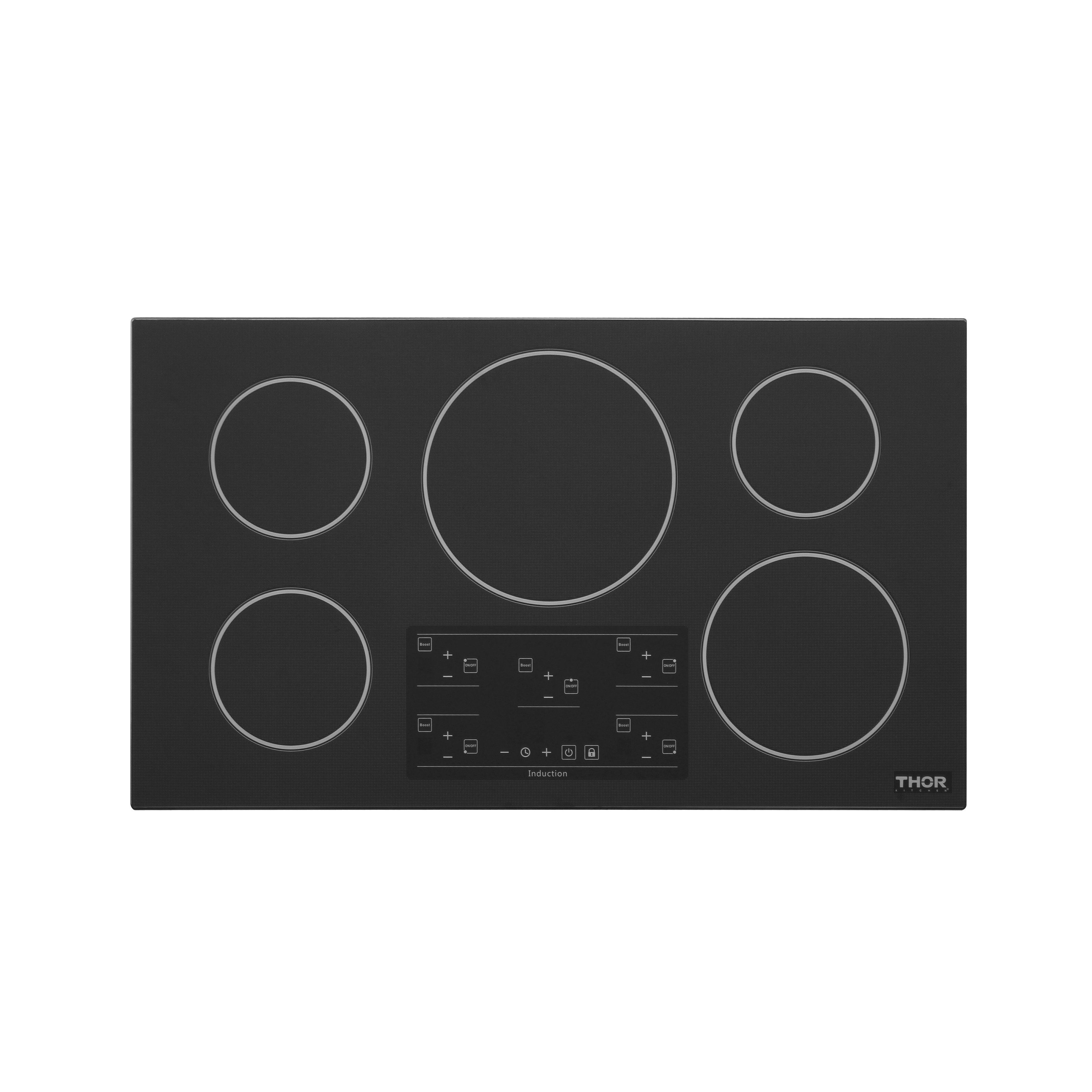 Thor Kitchen 36 Induction Cooktop With 5 Elements Black Ceramic With Images Induction Cooktop Kitchen Cooktop Cooktop