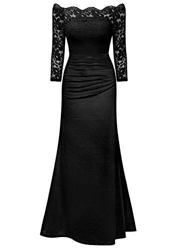 aa79eb00c Oferta  29.99€ Dto  -50%. Comprar Ofertas de MIUSOL Vestido Noche Fiesta  Largo Encaje Vintage Para Mujer (XX-Large
