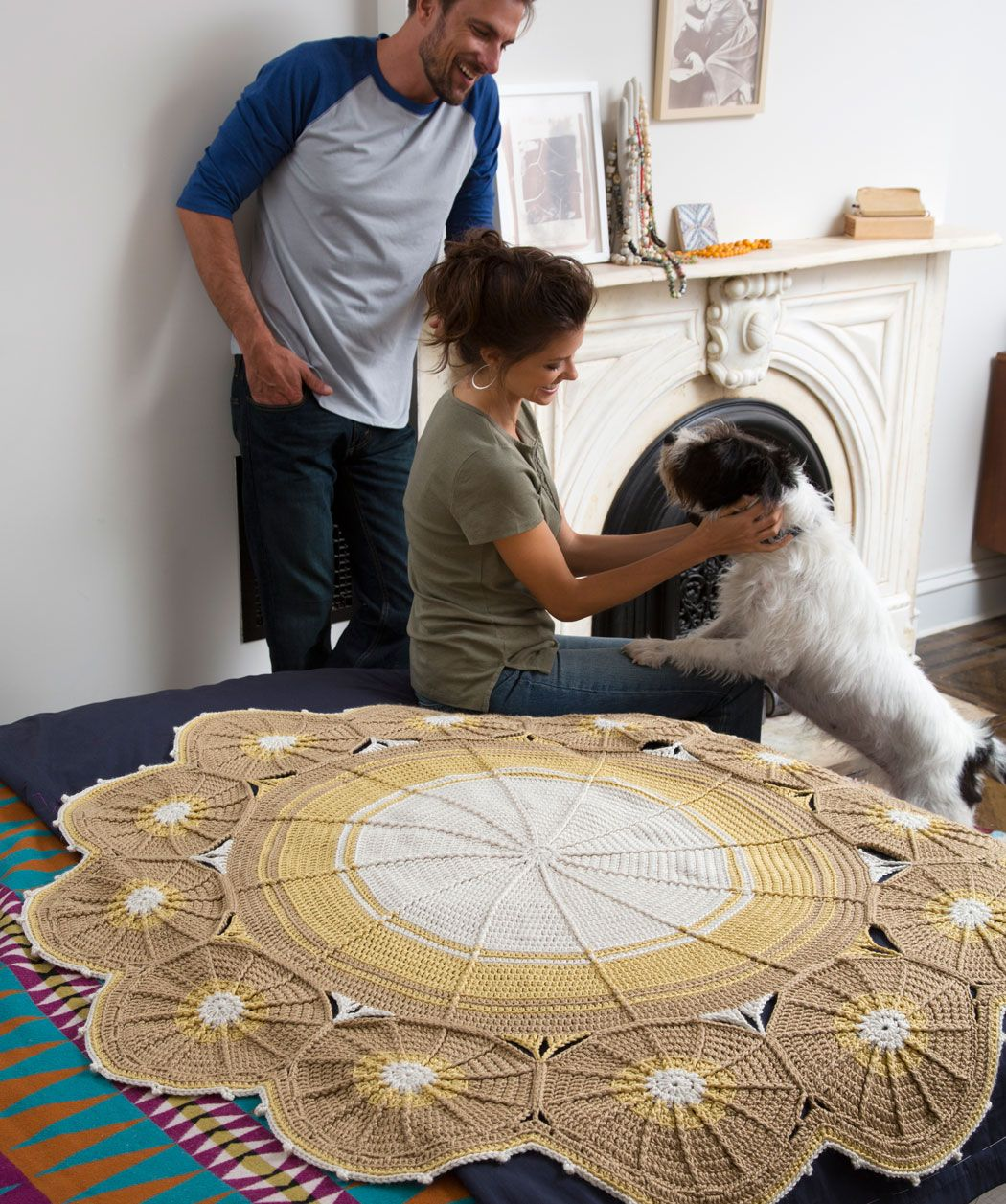 Eine Decke aus Kreisen | Häkeldecke | Pinterest | Deckchen ...
