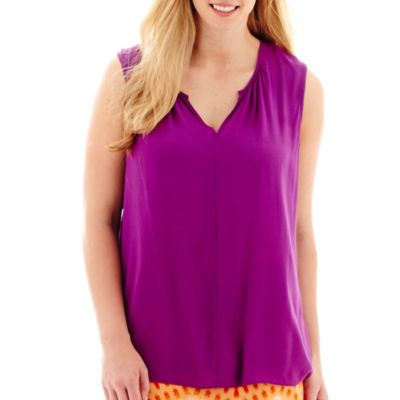 a.n.a® Shirred Neck Tank - JCPenney