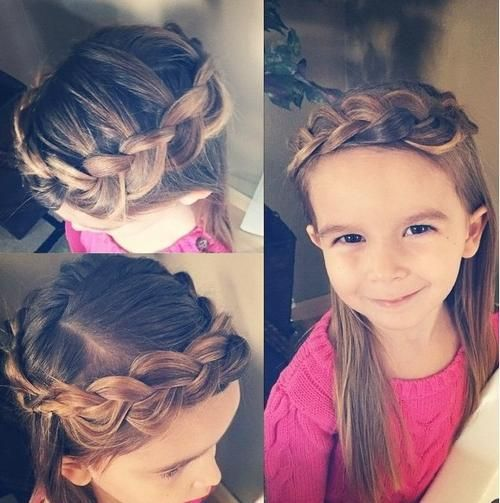 braided crown hairstyle for little girls - Looking for Hair Extensions to refresh your hair look instantly? @KingHair focus on offering premium quality remy clip in hair.