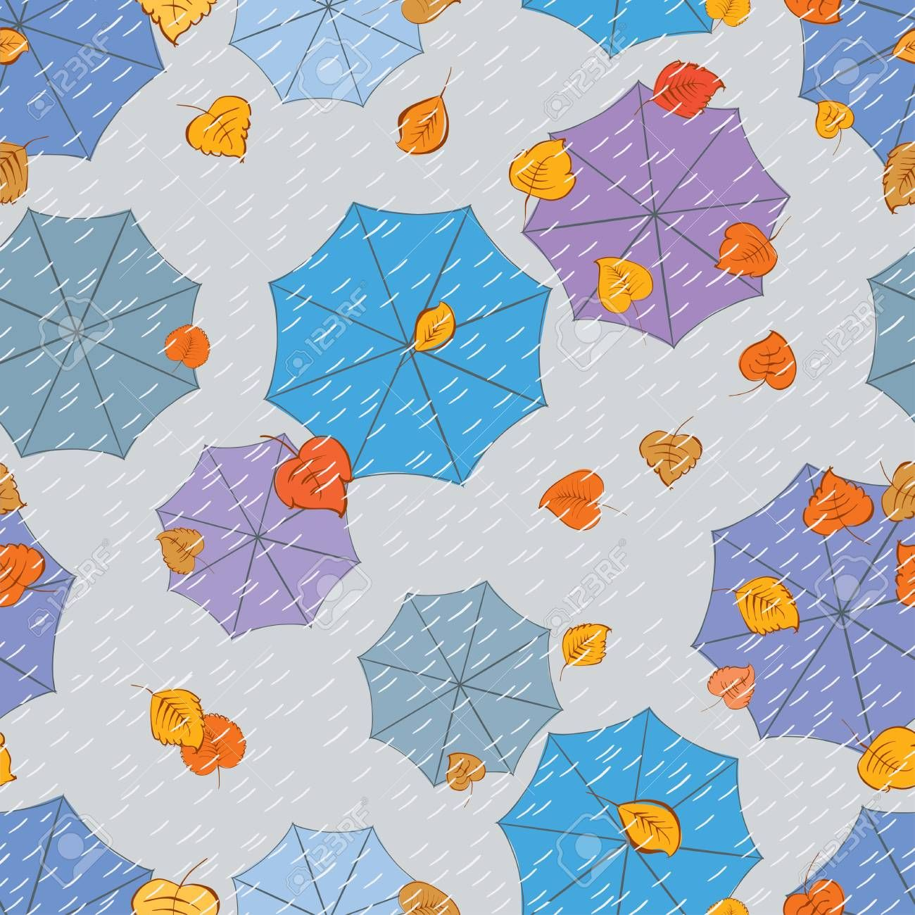 Vector abstract background of the autumn rain Sponsored