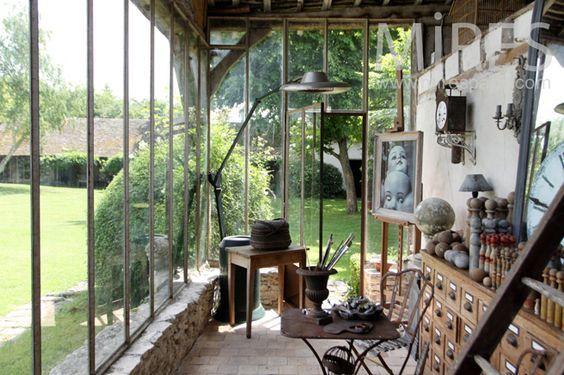 Verri re atelier v randa d 39 artiste verri res anciennes Verriere jardin