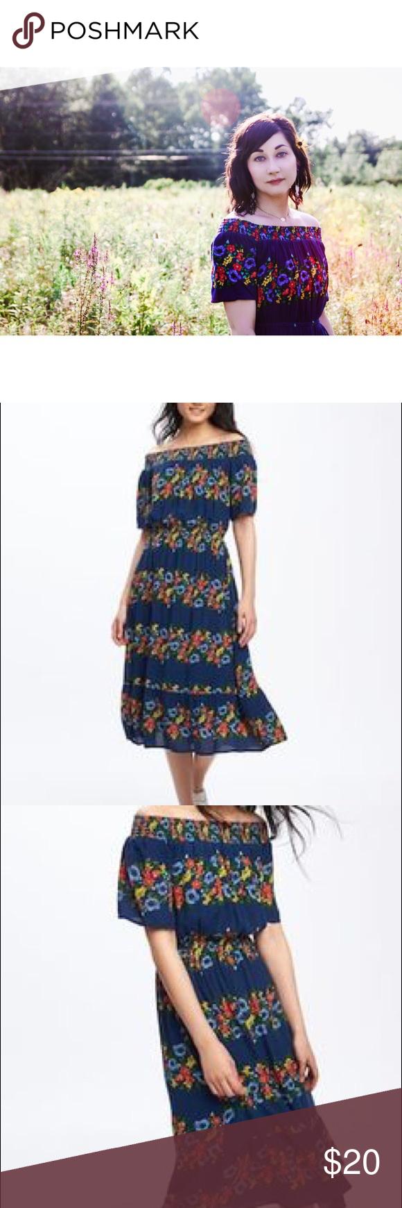 f31f28cbaf0e Old Navy • Blue Floral Off Shoulder Dress Worn once for 30 minutes for a  photo