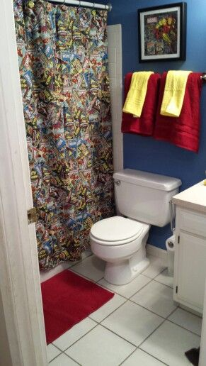 Avengers Bathroom Superhero Bathroom Avengers Room