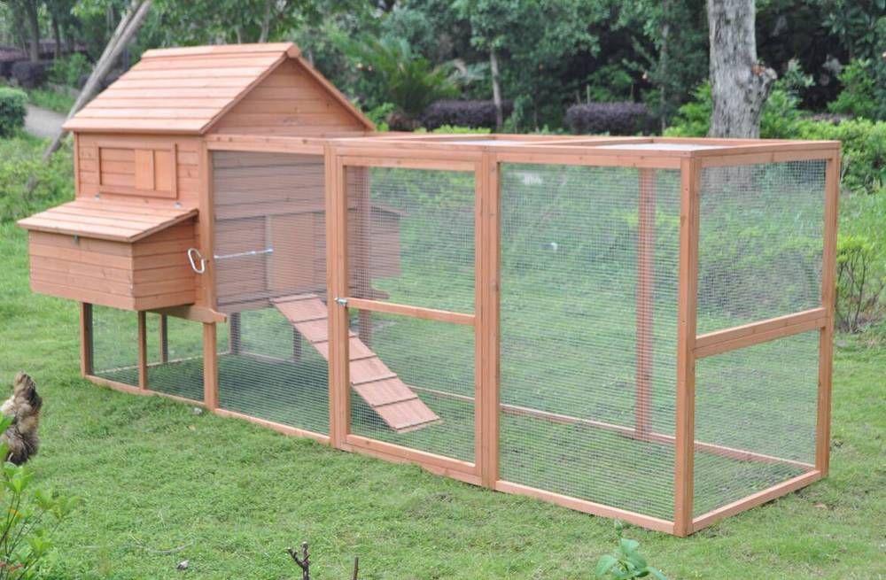 Deluxe Extra Large 12' Wood Chicken Coop Backyard Hen ...