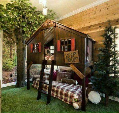 Bunk Bed Outdoor Indoor Tree House Tree House Bunk Bed House