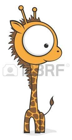 Cute dibujos animados beb  jirafa con ojos grandes photo