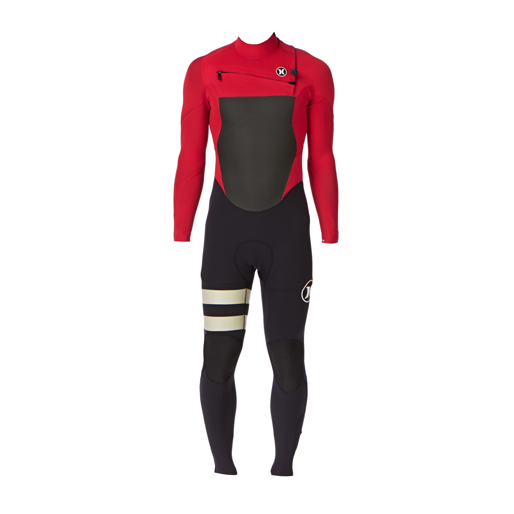 Men s Hurley Wetsuits - Hurley Fusion 3 2mm Chest Zip Wetsuit - Valient Red 27c663b03