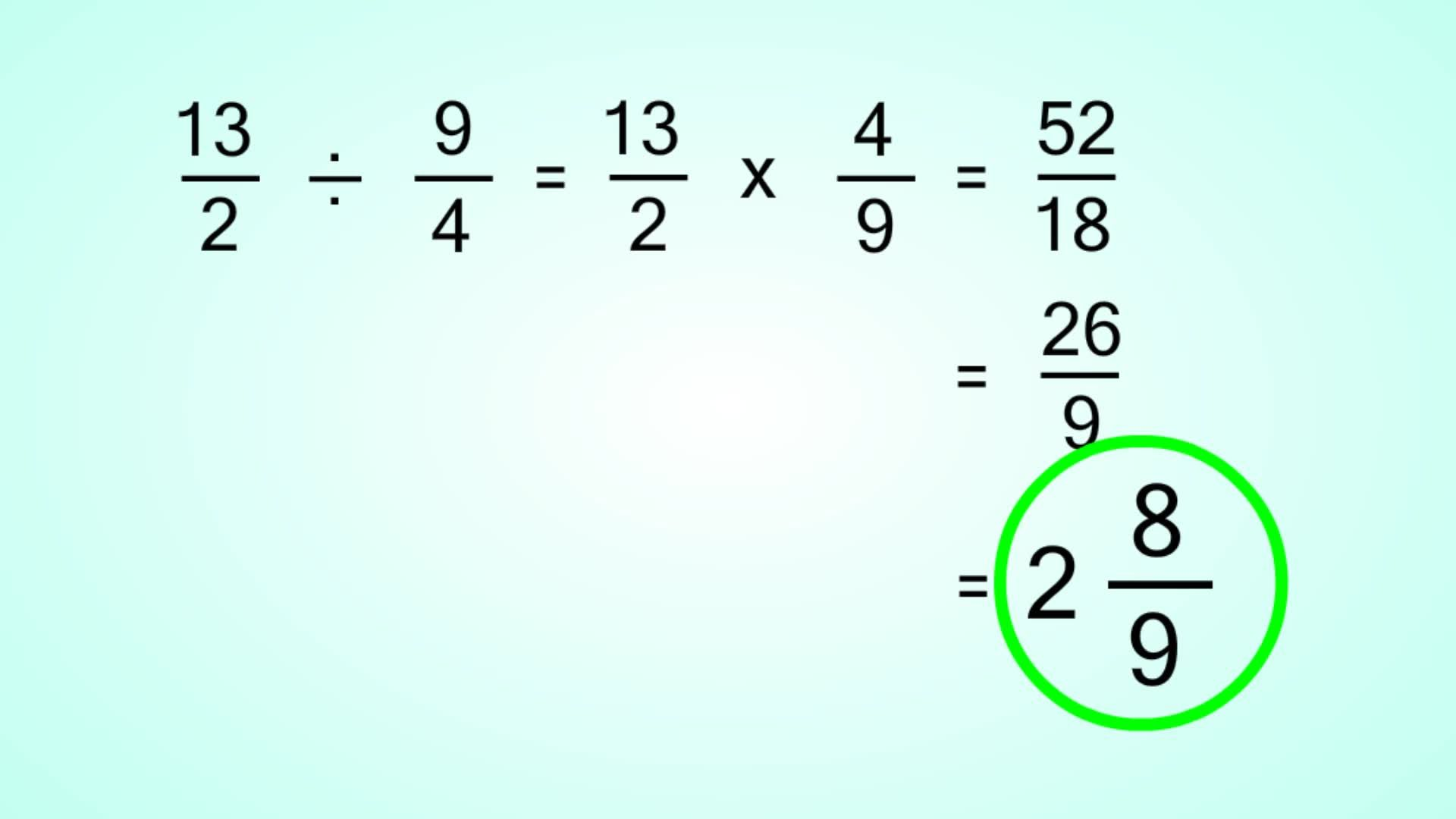 image result for how to divide mixed fractions | laurens math tool