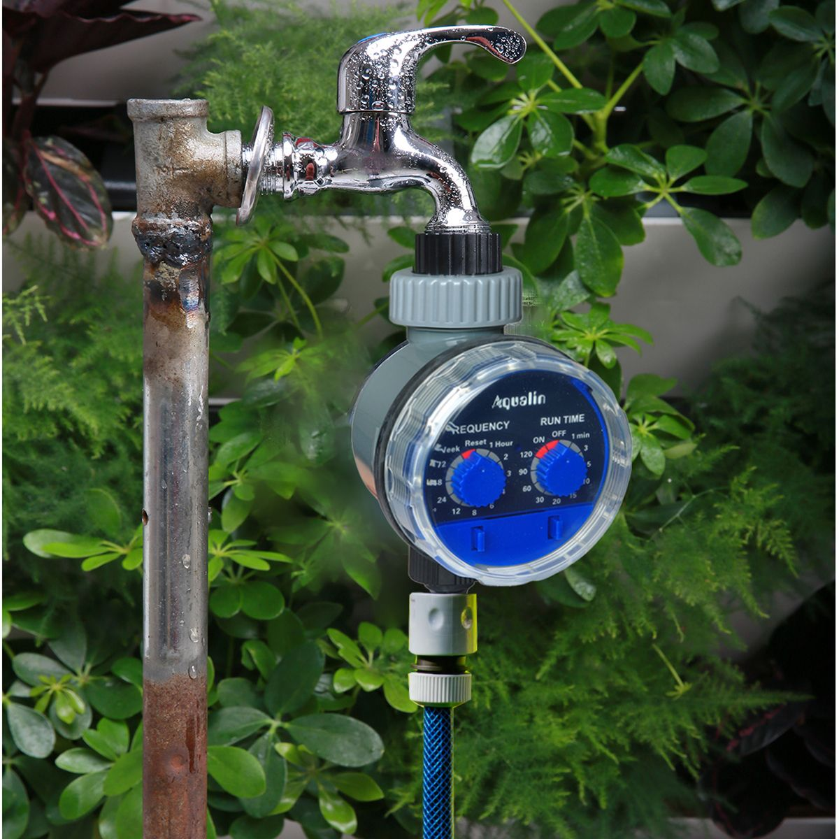 Electronic Water Hose Timer Garden Irrigation Controller Two Dial Color Blue 613869410523 Ebay Water Timer Irrigation Controller Garden Irrigation