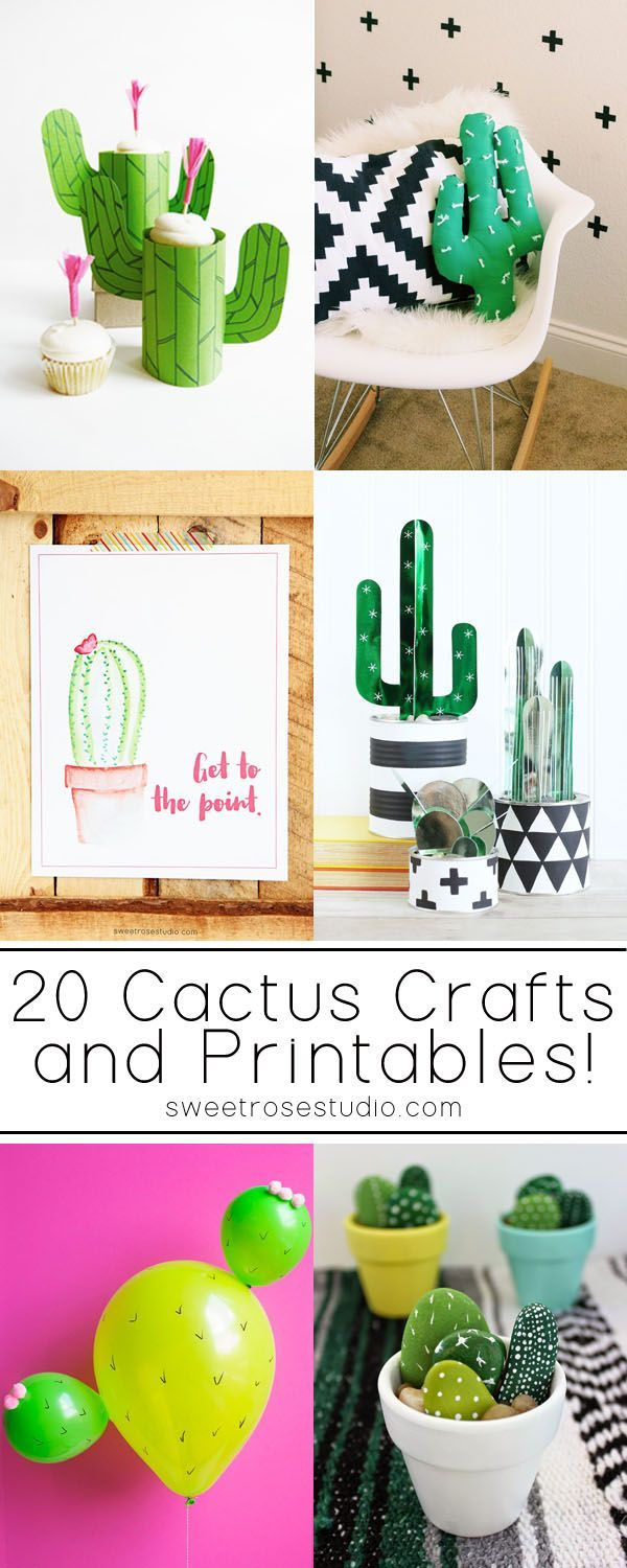 20+ Cactus Crafts and Printables at Sweet Rose Studio