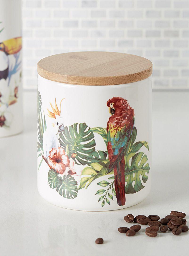 Le pot déco oiseaux exotiques  Simons Maison  Pots Décoratifs