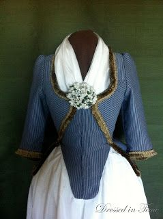 Dressed In Time A Striped Pierrot 18th Century Clothing 18th Century Costume Historical Clothing