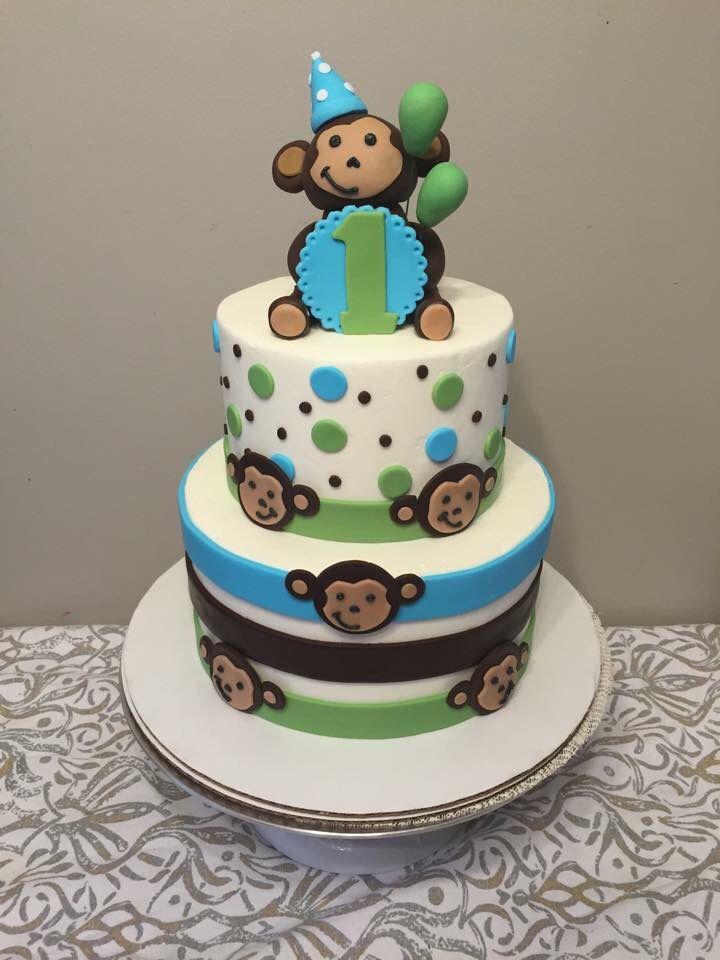 Super Monkey Cake First Birthday Monkey Birthday Cakes First Personalised Birthday Cards Veneteletsinfo