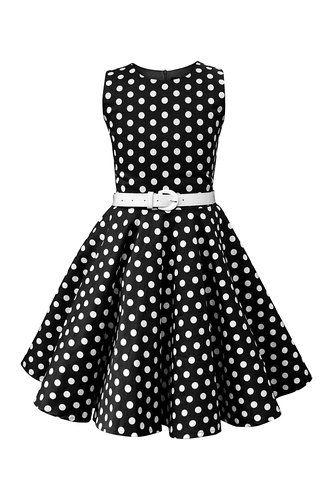 9c3857757 BlackButterfly Niñas 'Audrey' Vestido de Lunares Vintage Años 50:  Amazon.es: Ropa y accesorios