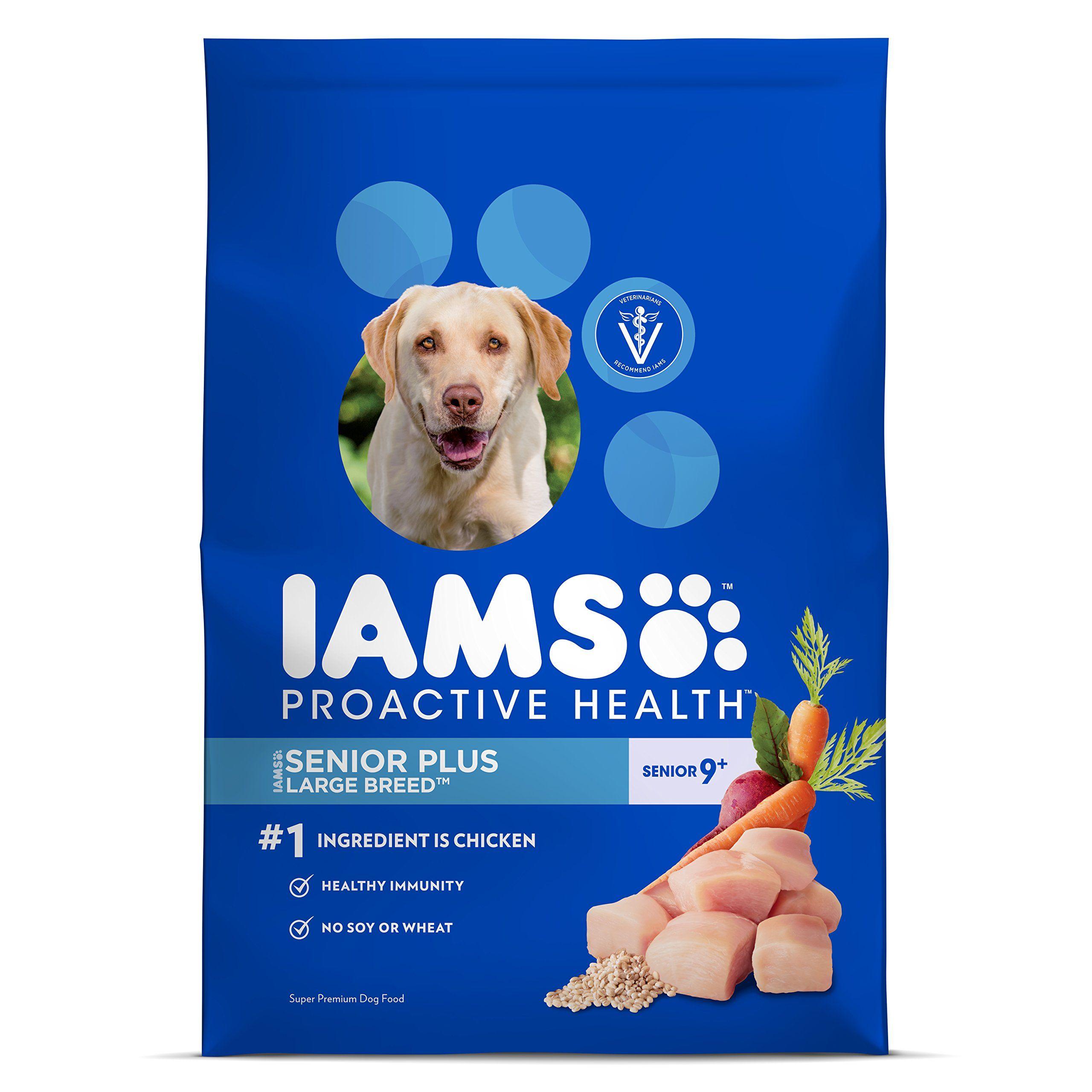 Iams Proactive Health Large Breed Senior Plus Premium Dry Dog Food