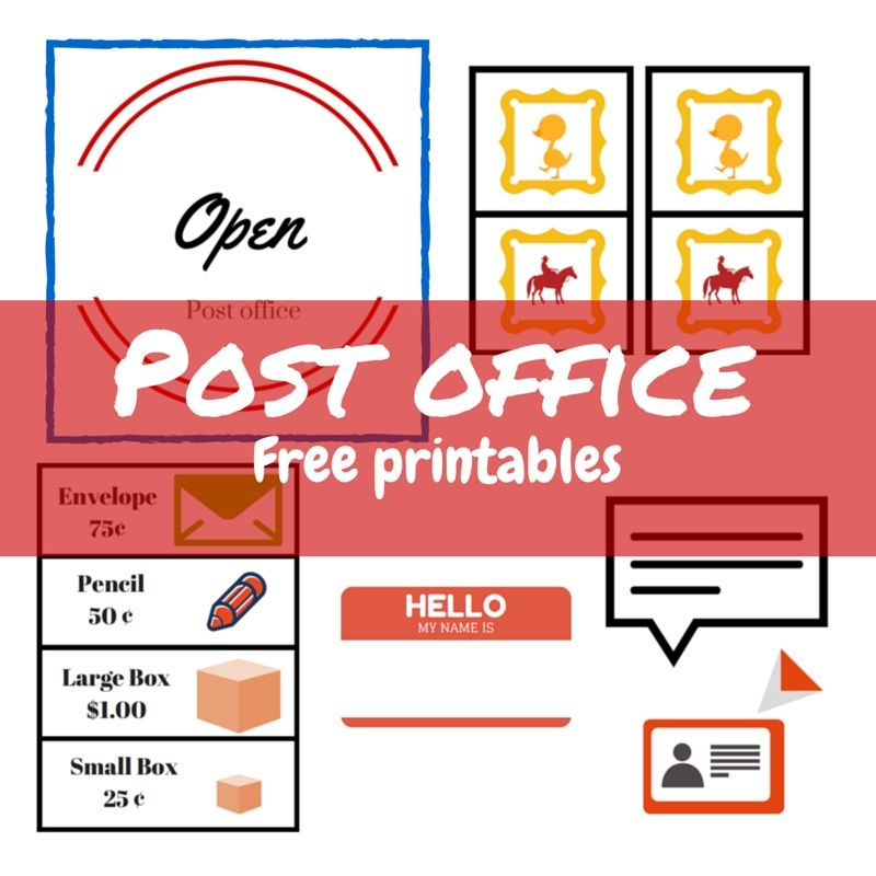 P is for post office - imaginative play free printables - car for sale sign printable
