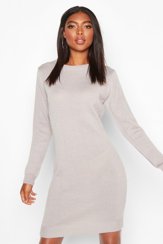 Tall Crew Neck Long Sleeve Dress Boohoo In 2021 Long Sleeve Dress Dresses With Sleeves Bodycon Fashion [ 1500 x 1000 Pixel ]