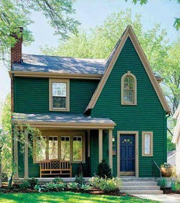 gambar rumah sederhana di pedesaan hijau | arsitektur