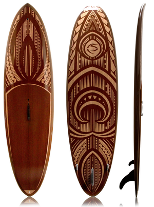 $1,099.00 -  Kai 10' Newkon Graphic - This is a 10' paddleboard at only 21.4 lbs!   Insanity.  Stand up paddle the bays, rivers, lakes, and the surf with ease.  Super flat mid bottom shape keeps volume in touch with the water (speed and stability), enabling a great flatwater paddle, while the sharper nose and tail rockers, rounded rails, and lighter weight foam make this paddle board easier to manuever in all types of surf.   DOES NOT SHIP TO AK.