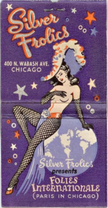 ratticus: Matchbook from the 40s for a Chicago burlesque club..