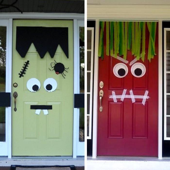 Puerta decorada para copas pinterest puertas for Puertas decoradas halloween