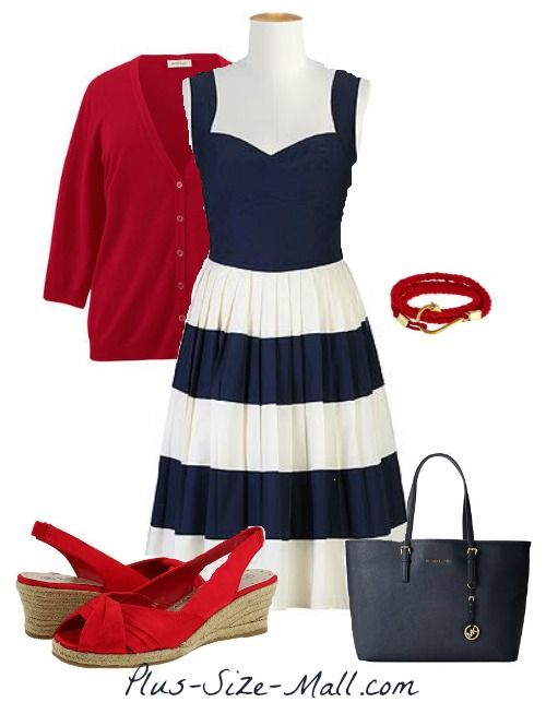Custom Made Nautical Dress & Outfit   Plus Size Clothing ...