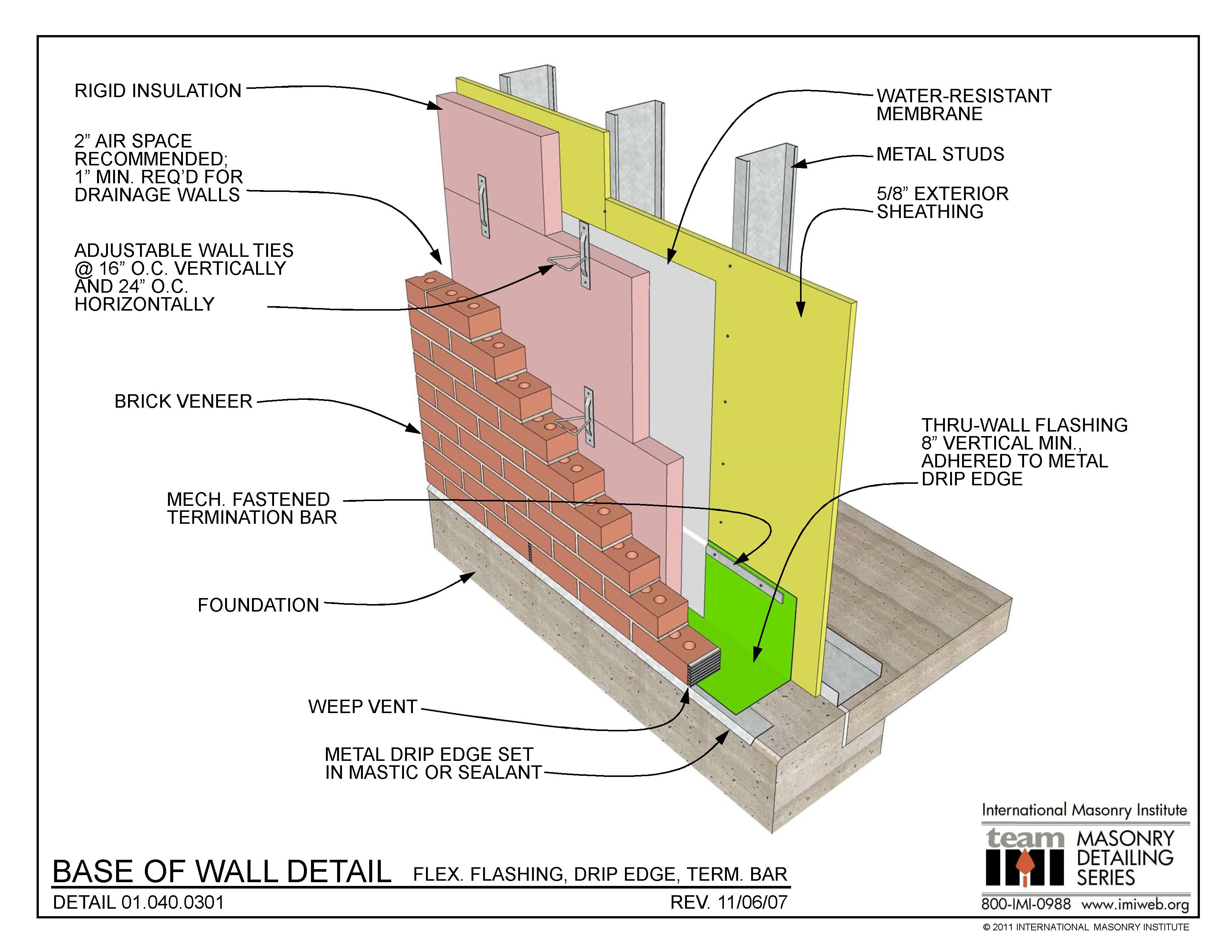 Brick Wall Detail Google Search Drip Edge Masonry Masonry Construction