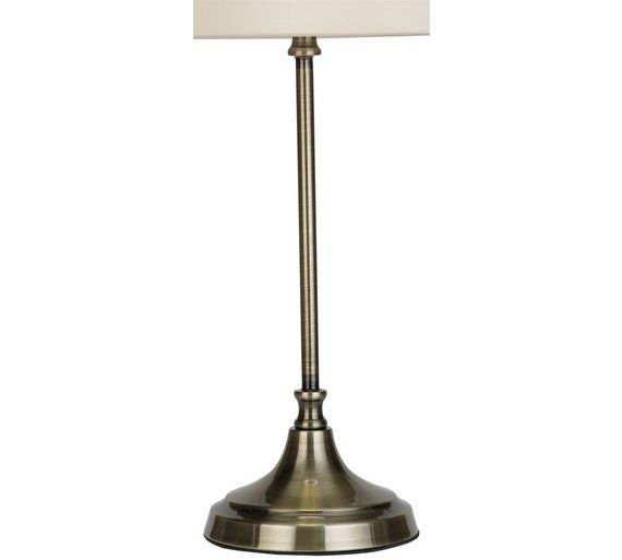 Buy collection elspeth antique brass table lamp ivory at argos co uk