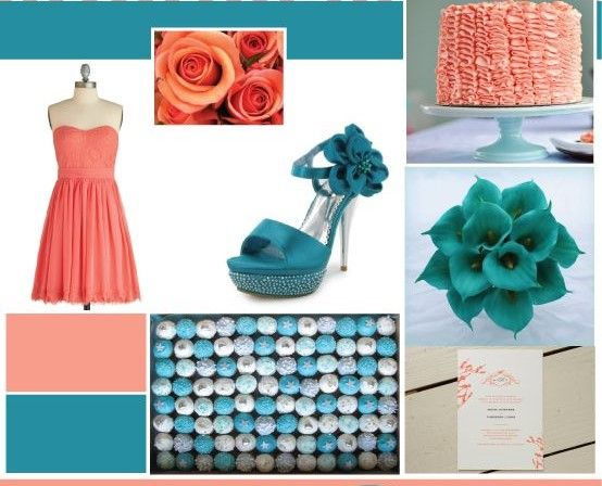 11 Best Colors That Go With Coral Wedding Color Inspiration Coral Teal Weddings Teal Wedding Colors
