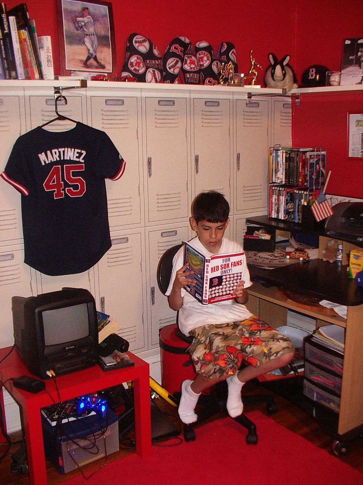 Awesome I Loved The Red Sox Room I Created For My Son. This Is The Locker