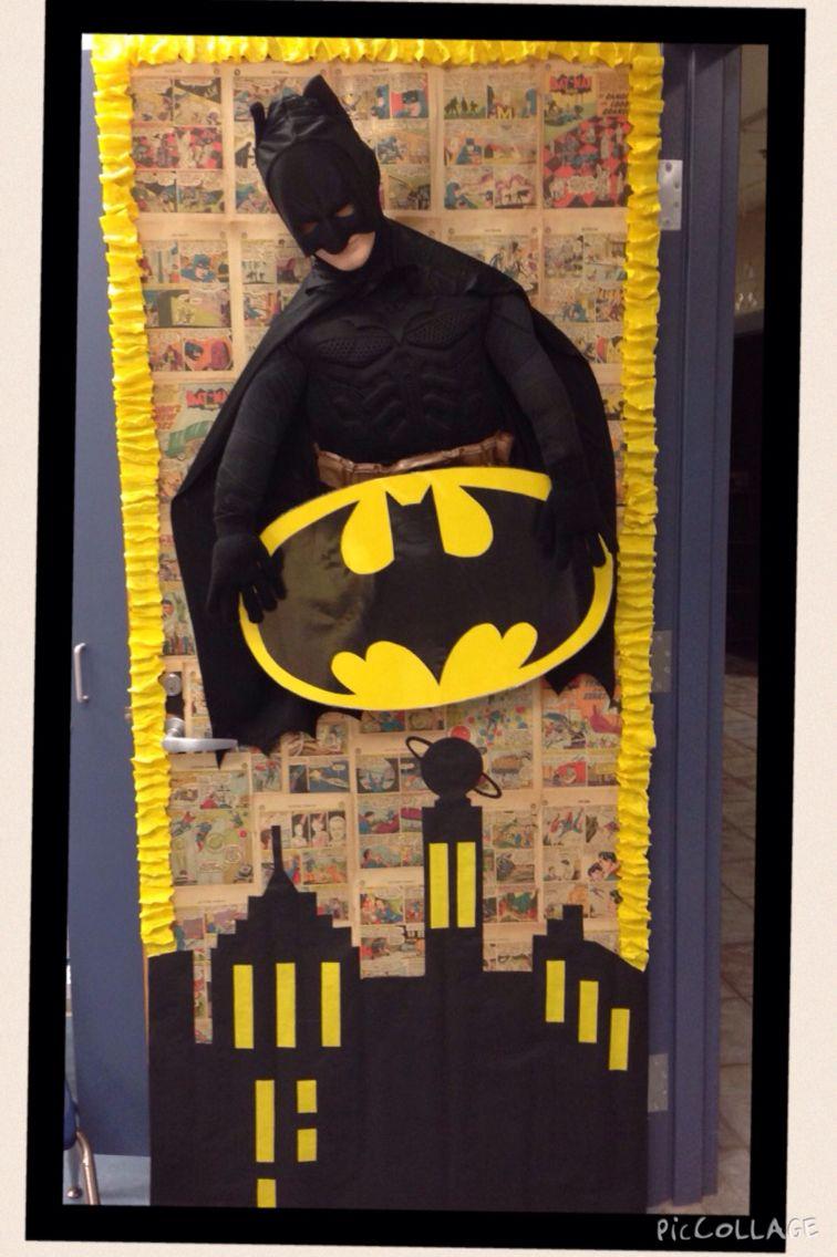 Classroom Door Decoration Ideas For Christmas ~ Superhero classroom batman door decoration new