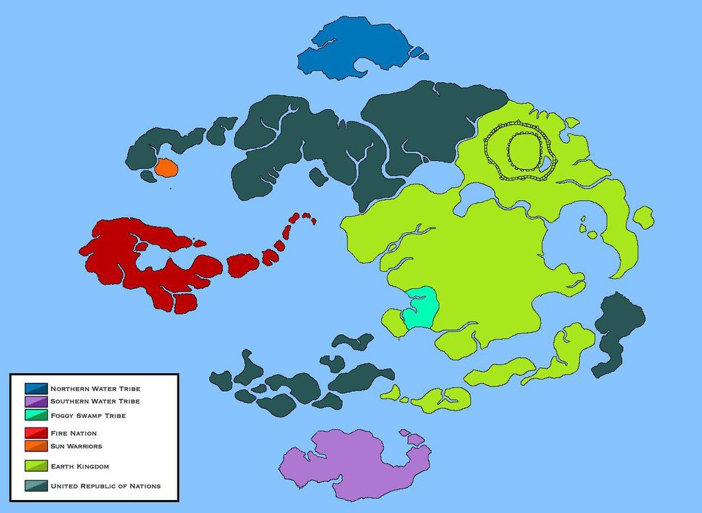 World of Avatar Political Map (Legend of Korra) by Loudo | My Cool ...