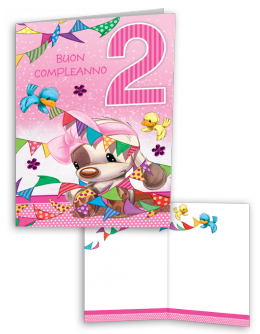 Ghirlanda Colorata Per I Tuoi 2 Anni Biglietti Di Compleanno Compleanno Divertente Biglietti Di Compleanno Divertenti