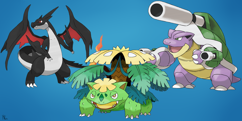 Shiny Mega Charizard Y Shiny Mega Venusaur And Shiny Mega
