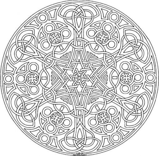 Printable Geometric Coloring Pages For Adults – Printable Adult Coloring Page