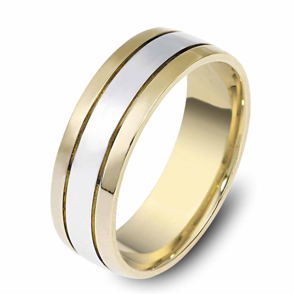 mens wedding bands White Gold Mens Wedding Bands classic two