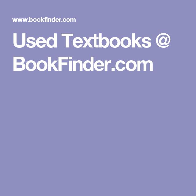 Used Textbooks @ BookFinder.com