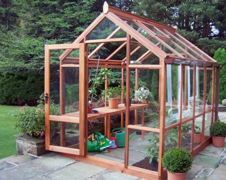 greenhouse design | Red cedar greenhouse | Small Greenhouses ... on