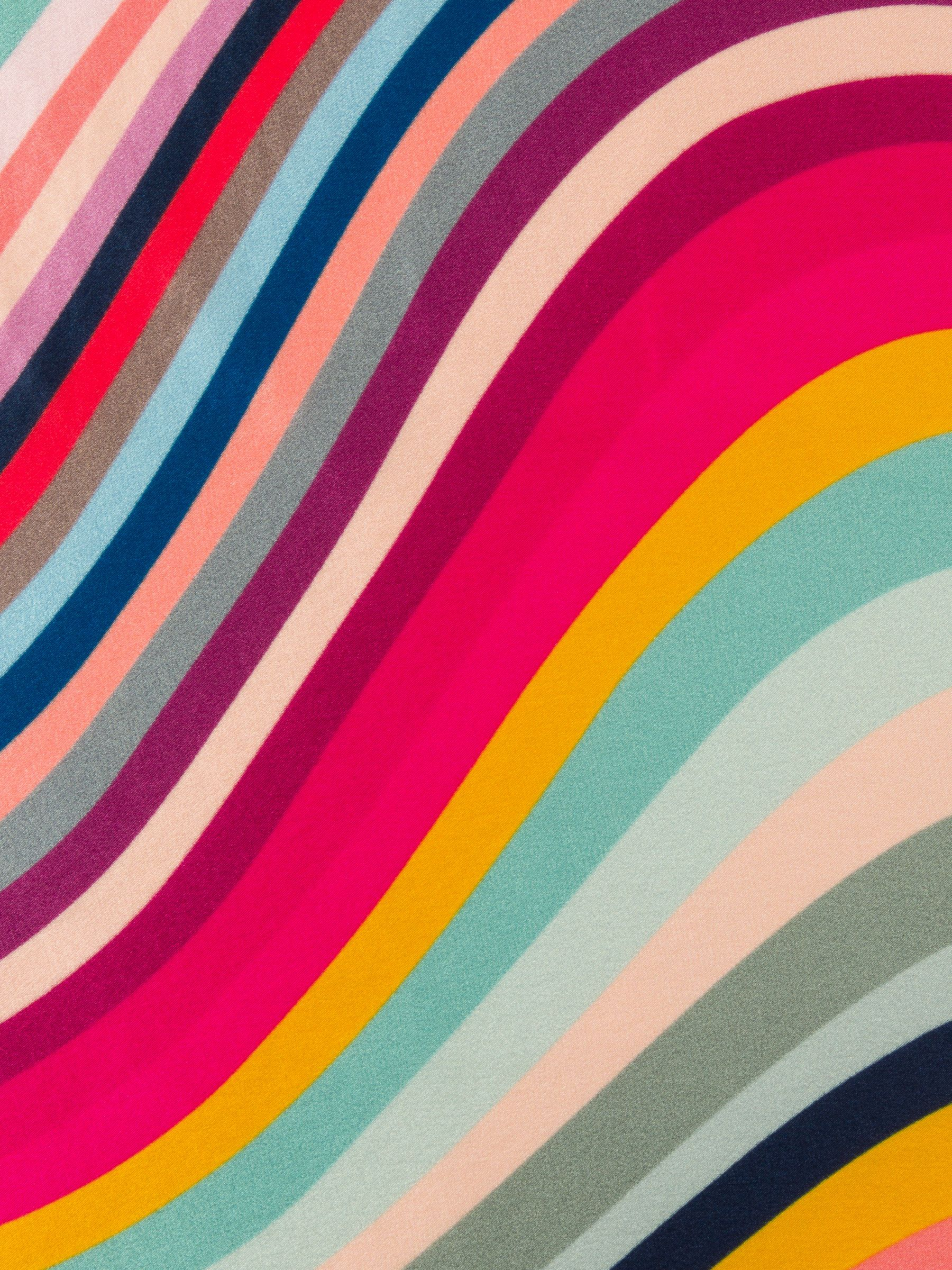 Paul Smith Large Swirl Stripe Silk Scarf Multi In 2020