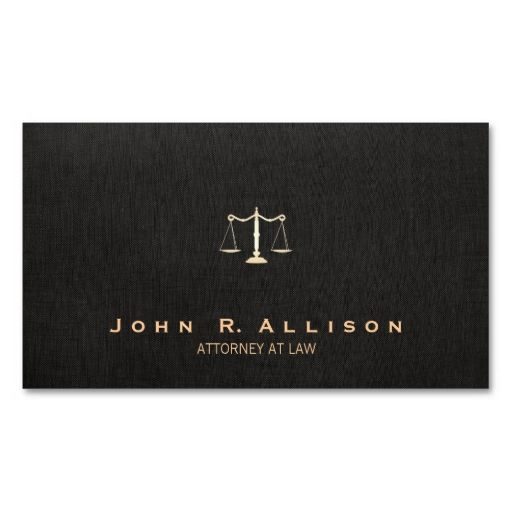 Lawyer Black Linen Look Scales Of Justice Business Card Template - Make your own business card template
