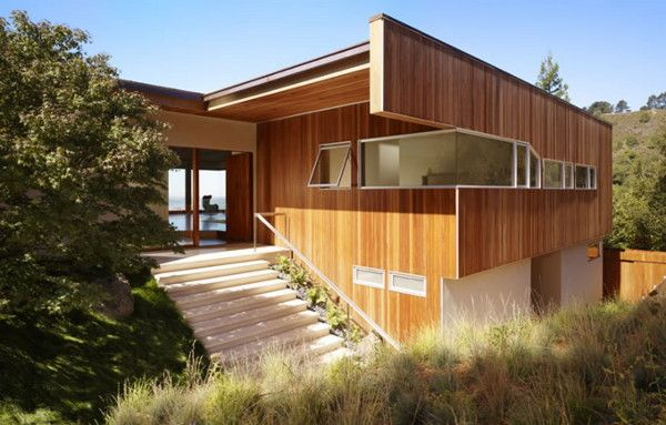 Modern Hillside Homes modern hillside house rules the hills in berkeley, ca | wood