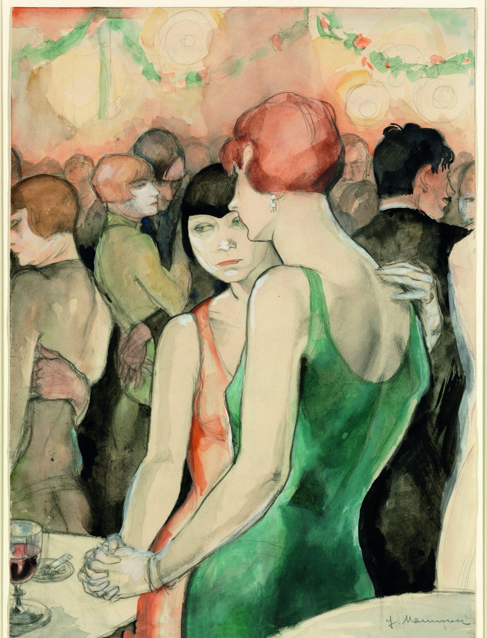 Jeanne Mammen Two Women Dancing Painting Art German Art