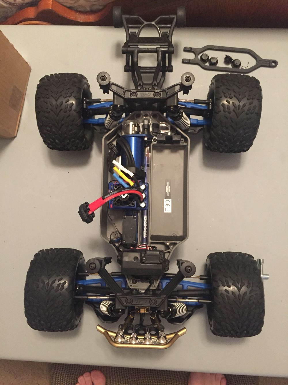 RPM A-arms blue installed on my Traxxas Stampede 4x4 VXL